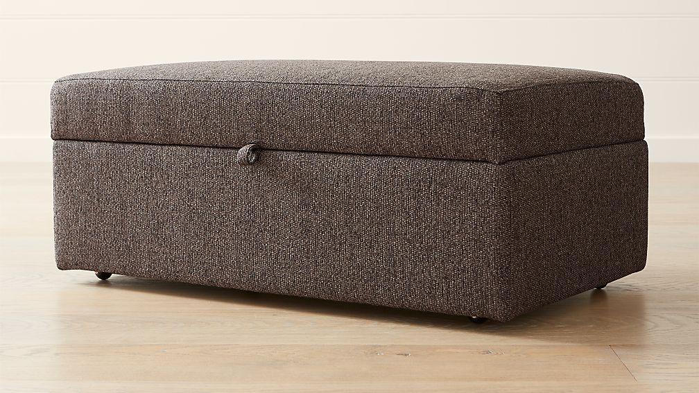 Lounge II Petite Deep Storage Ottoman - Image 1 of 5