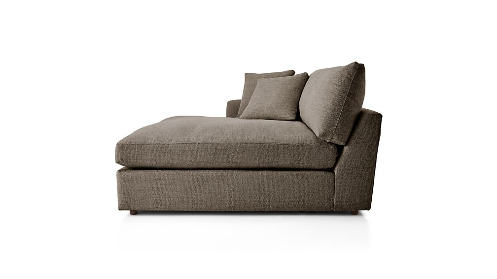 ... Lounge II Left Arm Double Chaise ...  sc 1 st  Crate and Barrel : double chaise loveseat - Sectionals, Sofas & Couches
