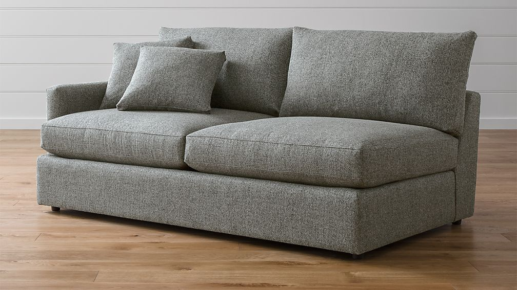 Lounge Ii Dark Grey Left Arm Sofa Reviews Crate And Barrel