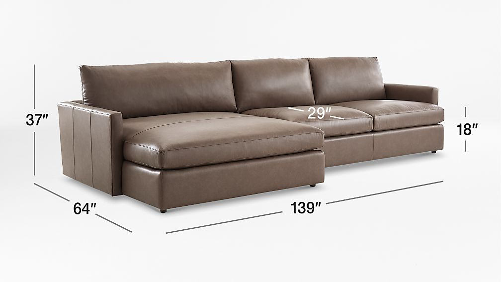 1 elegant lounge ii left arm chaise sectional sofa crate for Lounge ii 2 piece sectional sofa