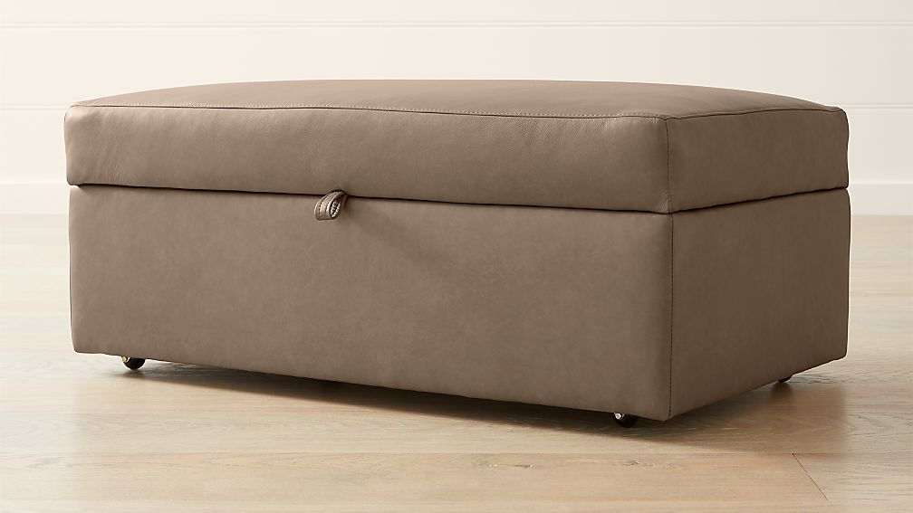 Lounge Ii Leather Deep Storage Ottoman Reviews Crate