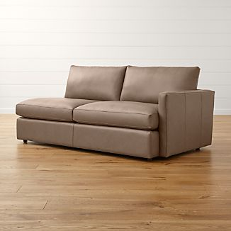 Lounge II Petite Leather Right Arm Sofa