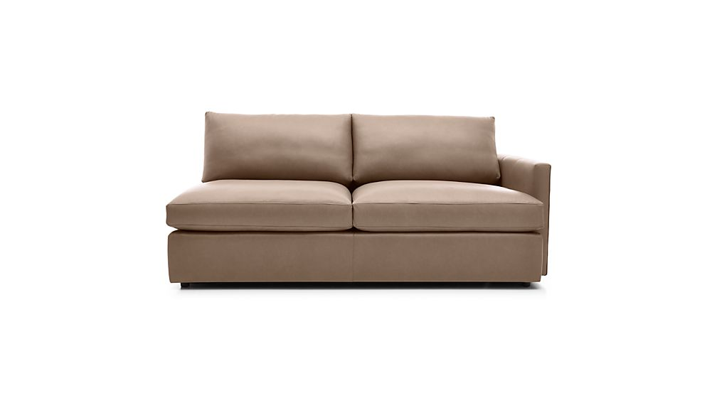 Lounge II Petite Leather Right Arm Sofa