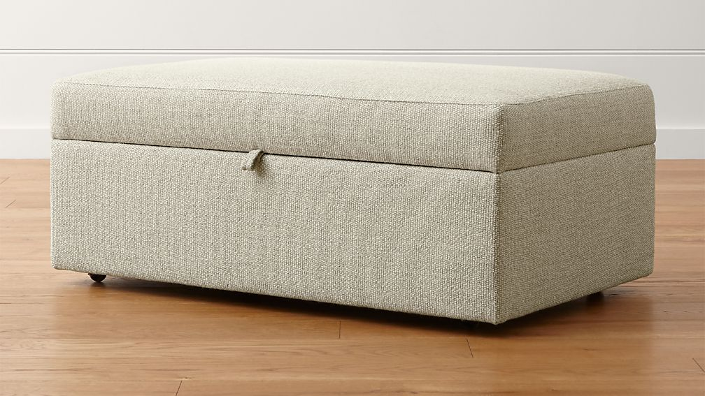 Lounge Ii Light Grey Storage Ottoman Reviews Crate And
