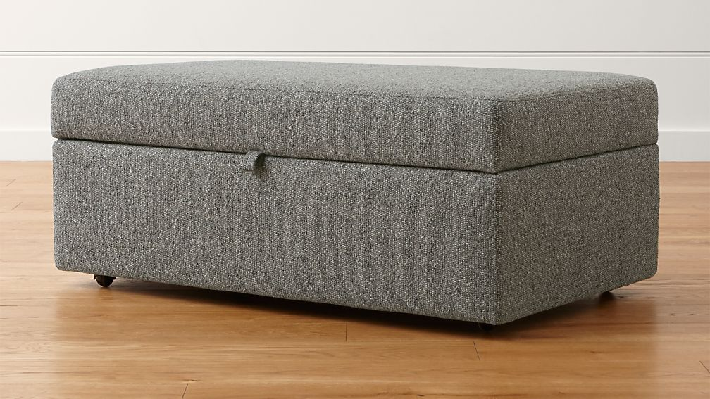 Lounge Ii Storage Ottoman With Tray Reviews Crate And Barrel
