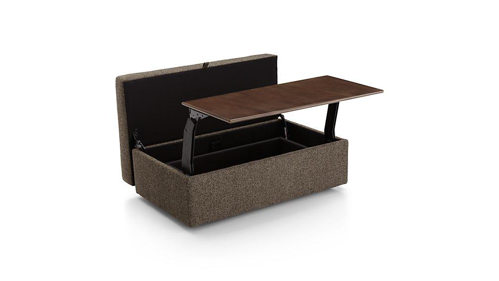 Lounge II Storage Ottoman with Tray