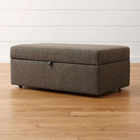 Lounge Ii Brown Grey Storage Ottoman Reviews Crate And