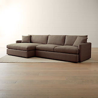 Lounge II Petite 2-Piece Left Arm Double Chaise Sectional Sofa