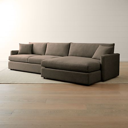 Lounge II Petite 2-Piece Right Arm Double Chaise Sectional Sofa