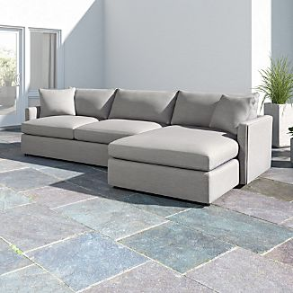 Lounge II Petite Outdoor Upholstered 2 Piece Right Arm Chaise Sectional