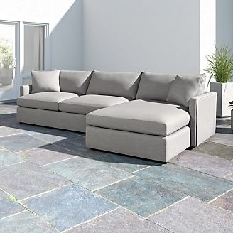 Lounge Ii Pee Outdoor Upholstered 2 Piece Right Arm Chaise Sectional