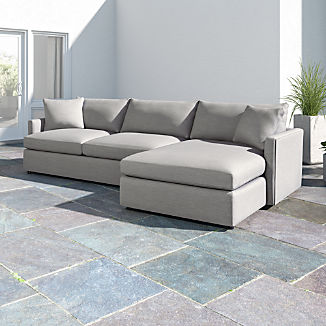 Lounge II Petite Outdoor Upholstered 2-Piece Right Arm Chaise Sectional