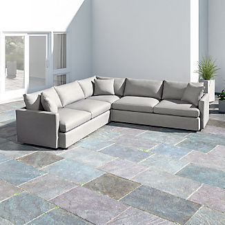 Lounge II Petite Outdoor Upholstered 3-Piece Sectional
