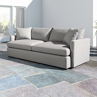 """Lounge II Petite Outdoor Upholstered 93"""" Sofa"""