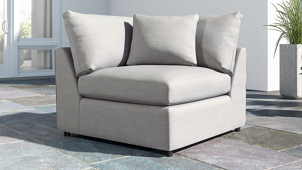 lounge ii petite outdoor upholstered corner chair reviews crate