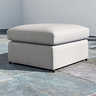 Lounge II Petite Outdoor Upholstered Ottoman