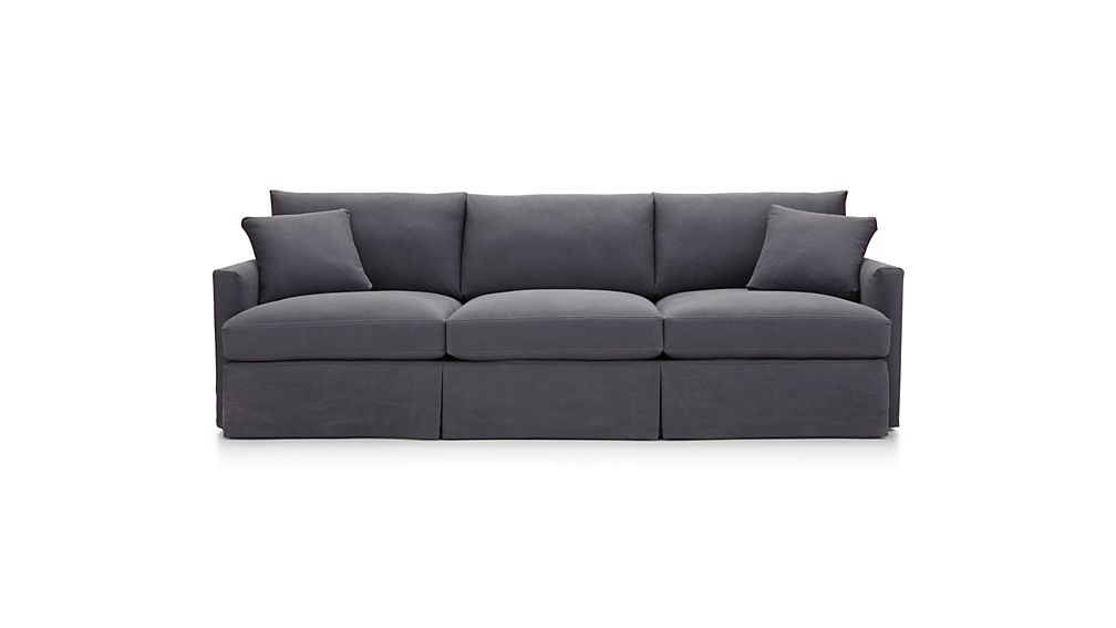 "Lounge II Petite Slipcovered 3-Seat 105"" Grande Sofa"