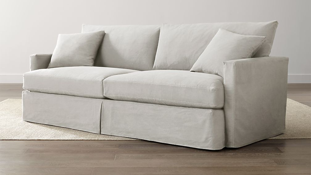 lounge ii white slipcover couch crate and barrel. Black Bedroom Furniture Sets. Home Design Ideas
