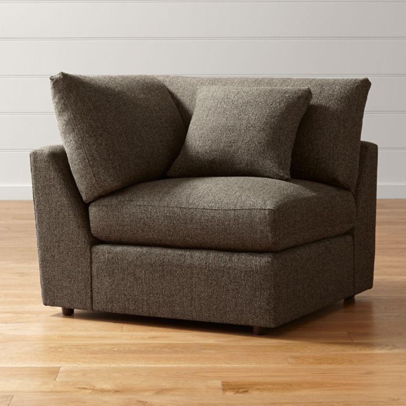 lounge ii petite corner chair reviews crate and barrel