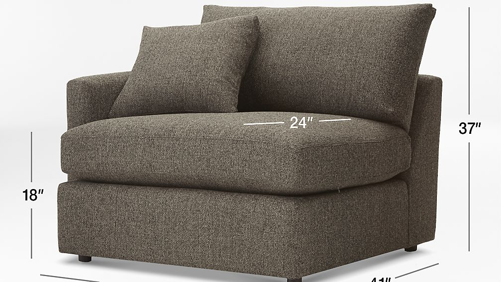 lounge ii left arm chair crate and barrel