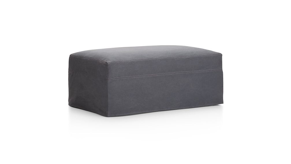 Lounge II Petite Slipcovered Storage Ottoman