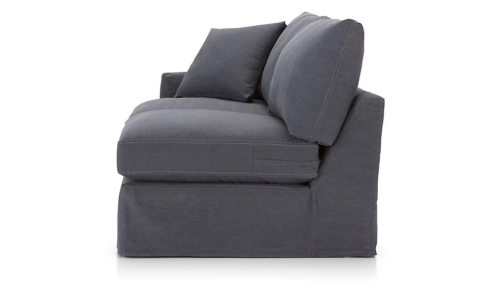 Lounge II Petite Slipcovered Left Arm Apartment Sofa