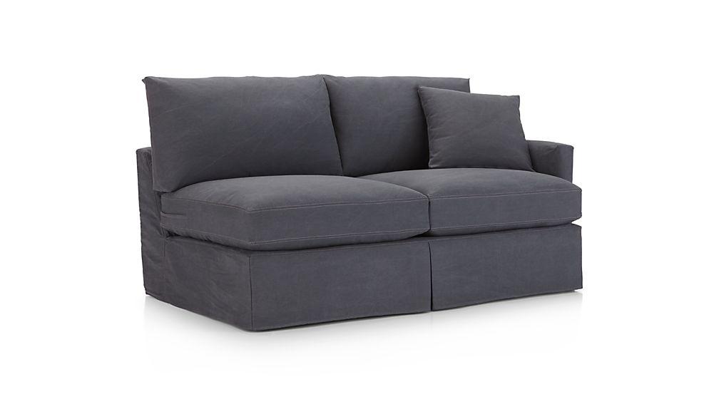 Lounge II Petite Slipcovered Right Arm Apartment Sofa