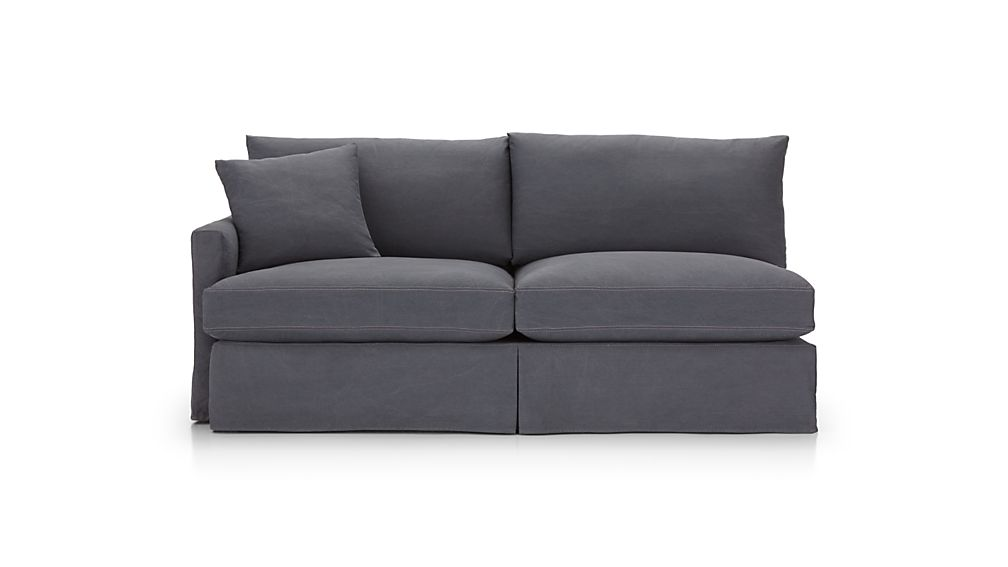Lounge II Petite Slipcovered Left Arm Sofa