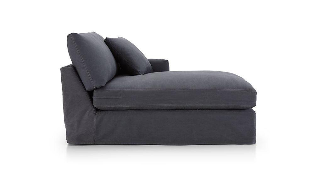 Lounge II Petite Slipcovered Right Arm Chaise