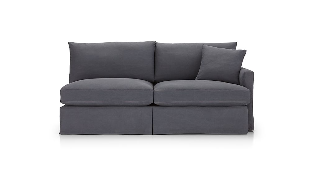 Lounge II Petite Slipcovered Right Arm Sofa