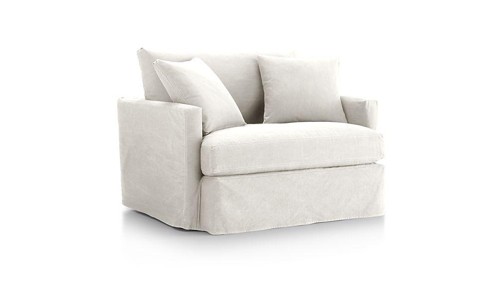 "Lounge II Petite Slipcovered 83"" Sofa"