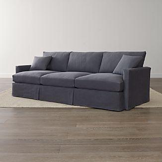 "Lounge II Petite Slipcovered 3-Seat 105"" Grande Sofa"