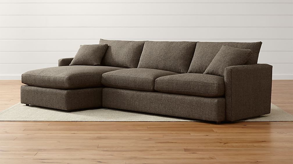Lounge II Petite Sectional Sofa + Reviews | Crate and Barrel