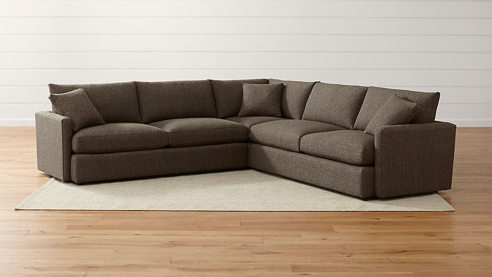 Lounge II Petite 3-Piece Sectional Sofa ...