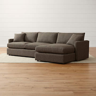Lounge Ii Shallow Sectional Sofa Reviews Crate And Barrel