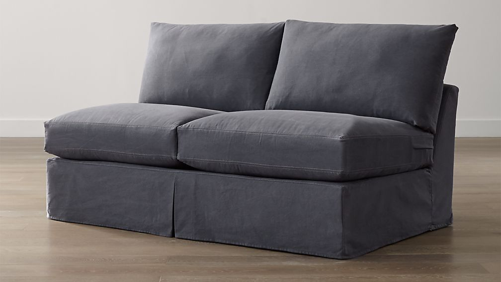 Lounge II Petite Slipcovered Armless Loveseat