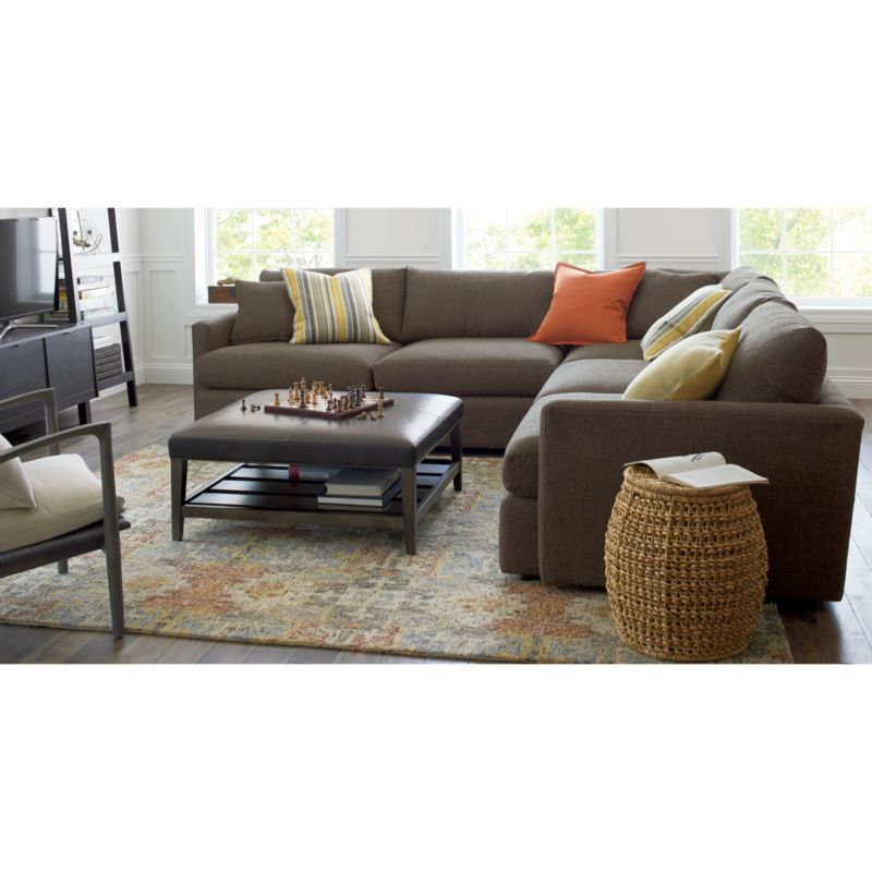 Lounge II 2Piece Double Chaise Sectional Sofa Reviews Crate and