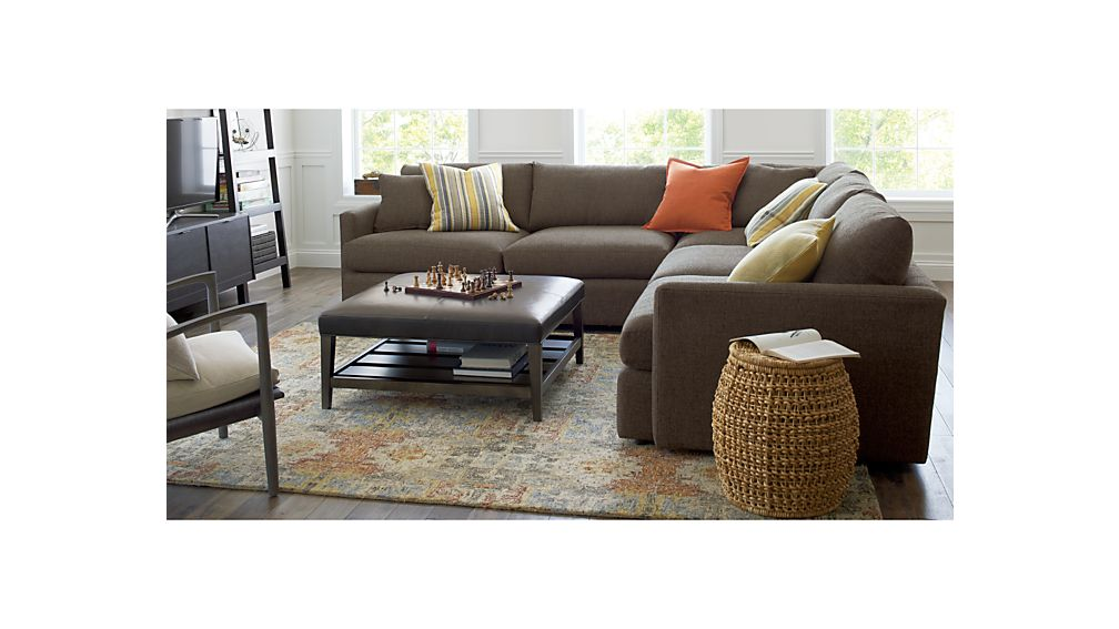 Lounge Ii Petite 3 Piece Sectional Sofa Crate And Barrel