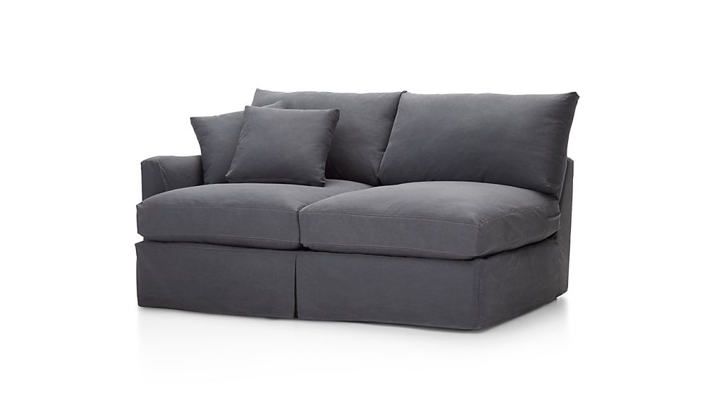 Lounge II Slipcovered Left Arm Apartment Sofa