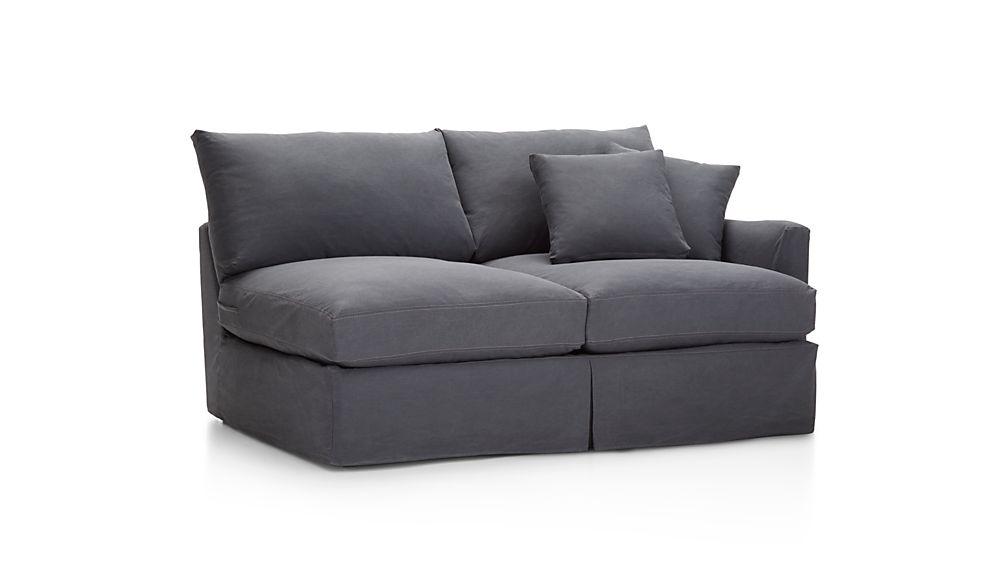 Lounge II Slipcovered Right Arm Apartment Sofa