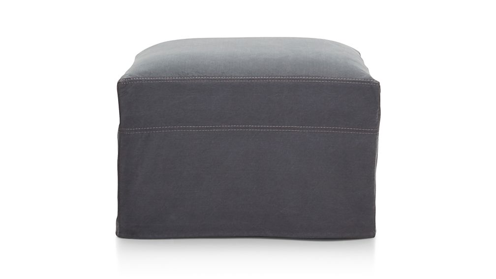 """Lounge II Petite Slipcovered 32"""" Ottoman with Casters"""