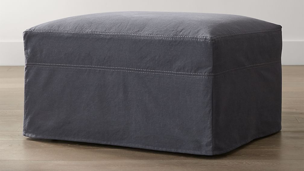 """Lounge II Slipcovered 32"""" Ottoman with Casters"""