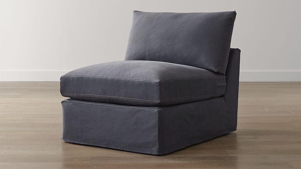 """Lounge II Slipcovered 32"""" Armless Chair"""