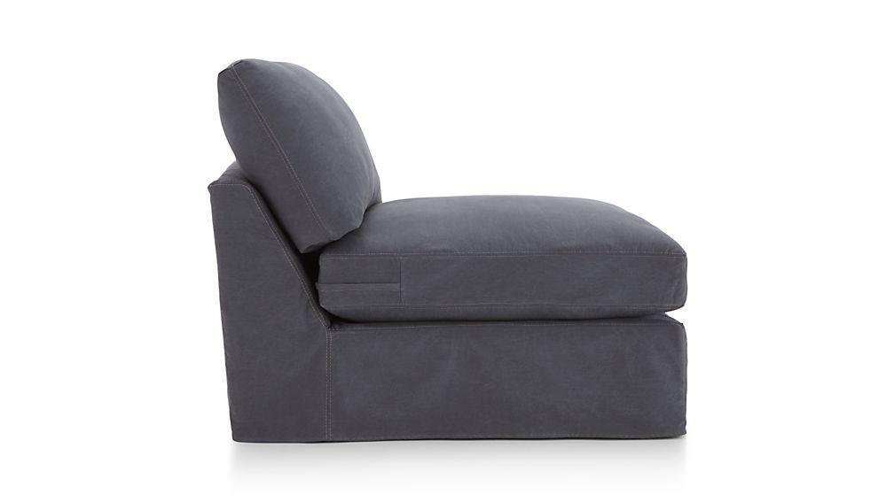 """Lounge II Slipcovered 37"""" Armless Chair"""