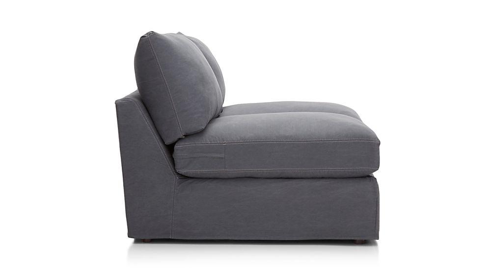 Lounge II Slipcovered Armless Loveseat
