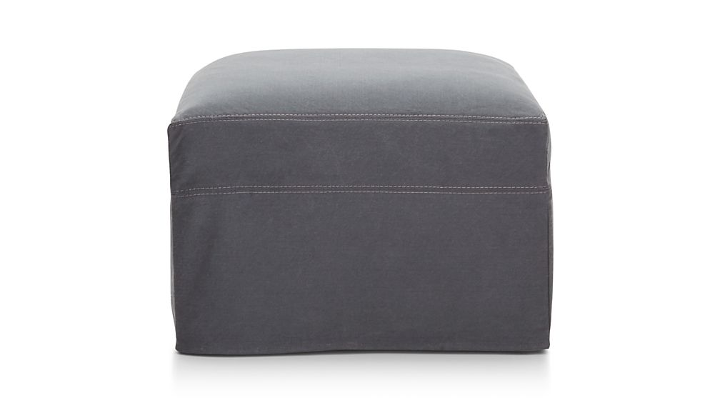 "Lounge II Slipcovered 37"" Ottoman with Casters"