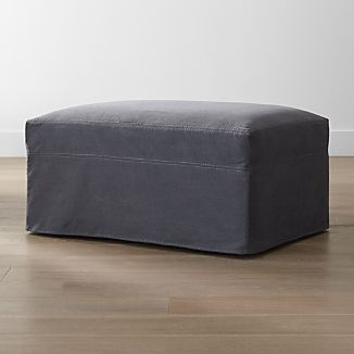 """Lounge II Slipcovered 37"""" Ottoman with Casters"""