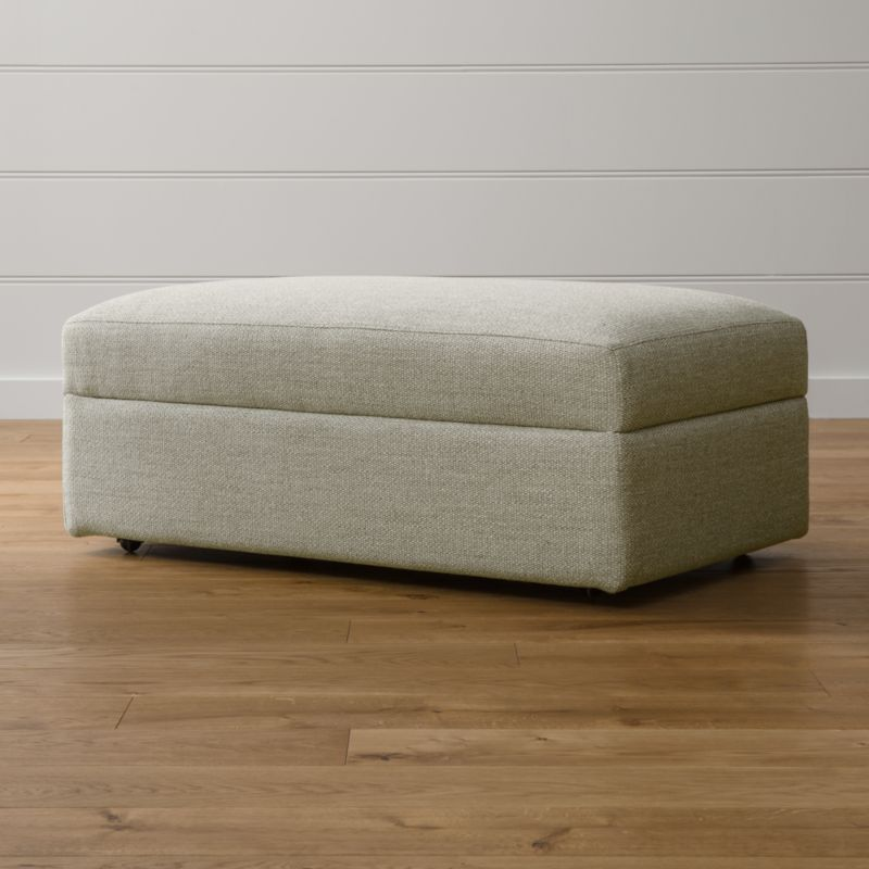 - Lounge II Storage Ottoman With Casters Crate And Barrel
