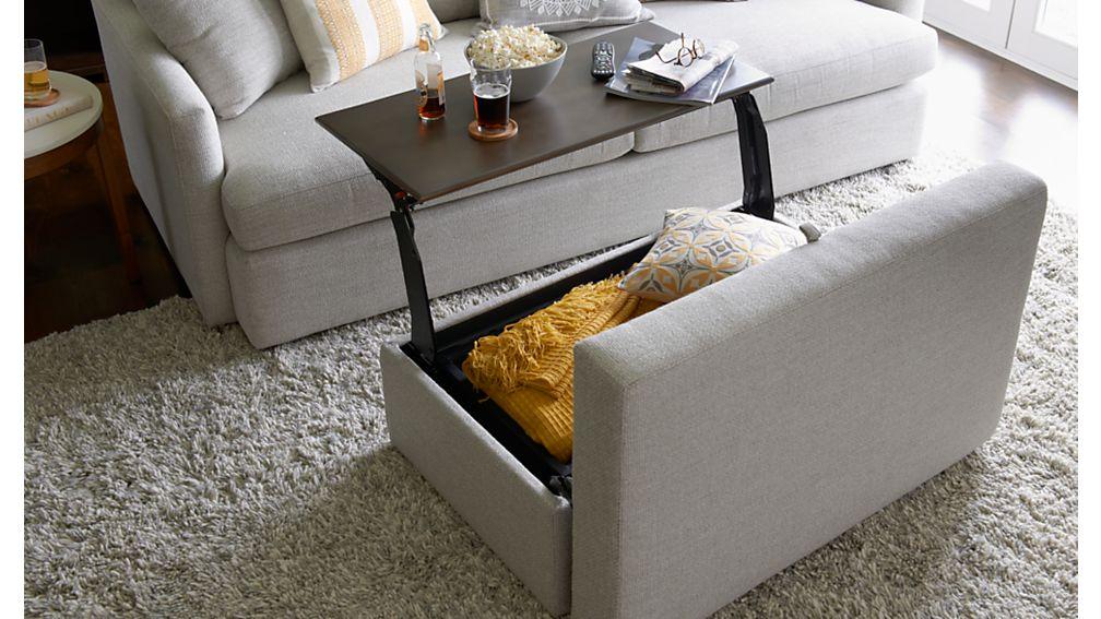 ... Lounge II Storage Ottoman With Tray ...