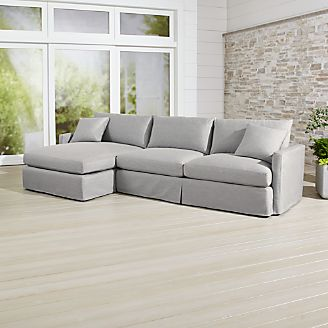 Lounge Ii Pee Outdoor Slipcovered 2 Piece Left Arm Chaise Sectional